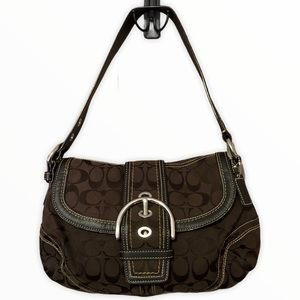 Coach Brown Soho Boho Signature Shoulder Bag